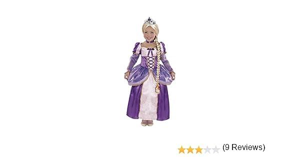 Partilandia Disfraz Princesa Rapunzel Trenza niña Infantil para ...