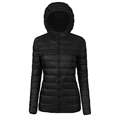 CIOR Women's Hooded Down Jacket Packable Ultra Lightweight Outwear Puffer Coats with Travel Bag