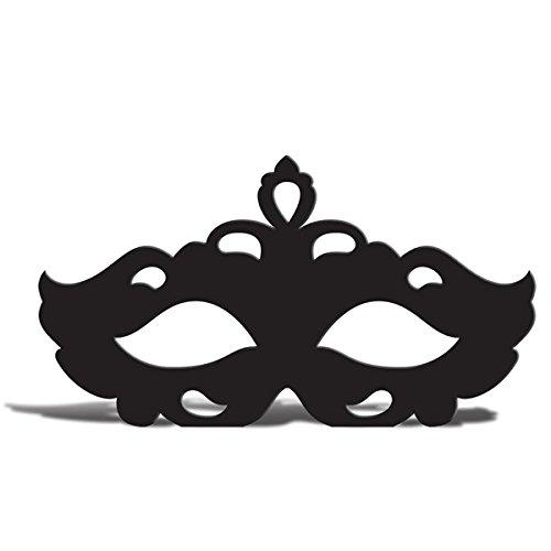 Masquerade Mask Silhouette Cardboard Cutout Silhouette]()