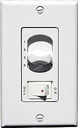 Modern Fan 002ND, 3-Wire, 4-Fan Speeds & Fluorescent On/Off Toggle Wall Mount