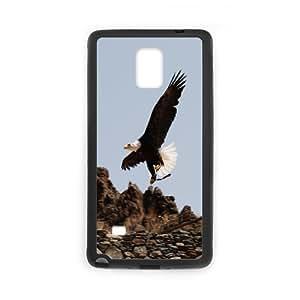 Samsung Galaxy Note 4 Case Eagle 13, Flying Eagle Kweet, {Black}