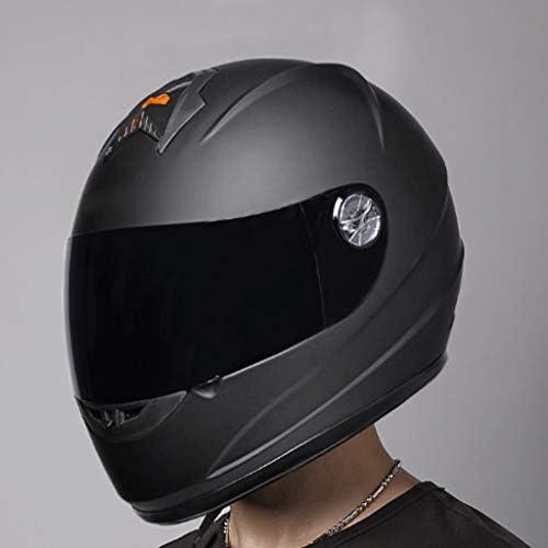 安全装置 ヘルメット - ヘルメットオートバイ乗り物防曇の男性のフルフェイスヘルメットヘルメット機関車レディースフォーシーズンウォーム透明なミラー 個人用保護具 (色 : A)