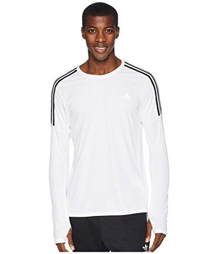 Adidas Long Sleeve Shirt - adidas Men's 3-Stripes Run Long Sleeve Tee White Large