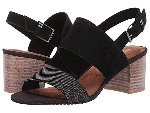 TOMS Women's Poppy Sandals, Size: 5 B(M) US, Color: Black -