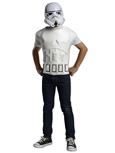 (Rubies Star Wars Stormtrooper Deluxe Muscle Shirt Child Costume Top, Standard)