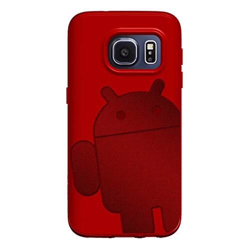 (Galaxy S7 Case, Cruzerlite Androidified A2 (TPU and Carbon) case for Samsung Galaxy S7 - Red)
