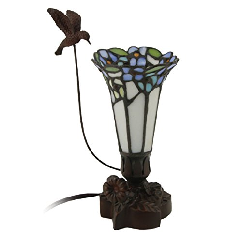 Hummingbird Metal Cremation Urn Keepsake Memory Lamp - Keepsake Holds 1 Cubic Inch of Ashes - Blue - Engraving Sold Separately