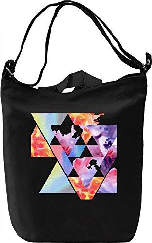 Triangle Borsa Giornaliera Canvas Canvas Day Bag| 100% Premium Cotton Canvas| DTG Printing|