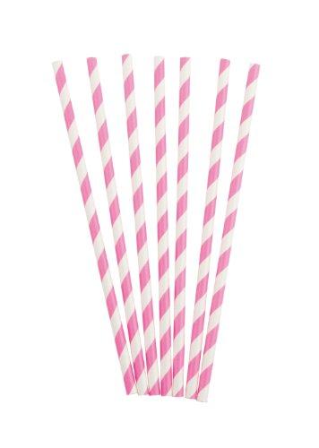 Party Partners Design Retro Paper Straws, Magenta, 25 Count (Napkins Beverage Magenta)