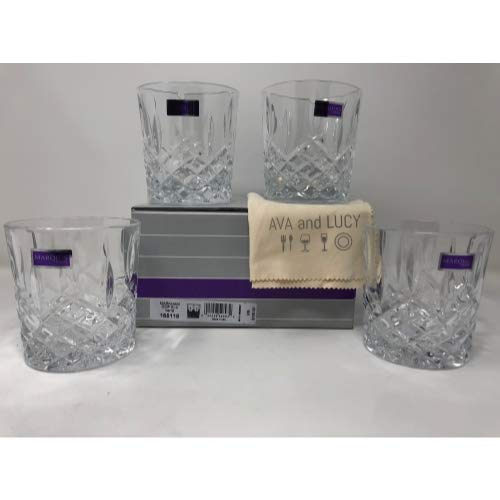 (Marquis by Waterford Markham Double Old Fashioned Glasses, Set of 4, includes an Ava & Lucy Microfiber Cloth)