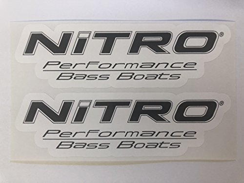 2 Nitro Performance Bass Boats Decals by SBDdecals.com