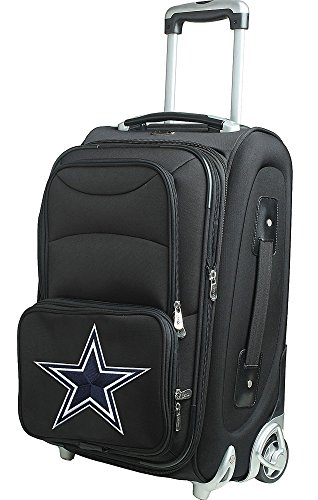 NFL Detroit Lions In-Line Skate Wheel Carry-On Luggage, 21-Inch, Black by Denco