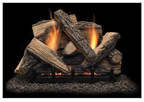 - Monessen Stony Creek Ventless Gas Logs - Remote Ready - 30 inch - Natural Gas