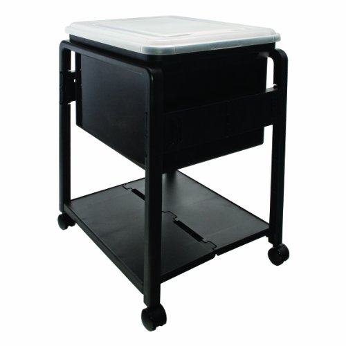 UPC 024591557583, Advantus Folding and Rolling File Cart with Lid, Letter or Legal Size, Black (55758)