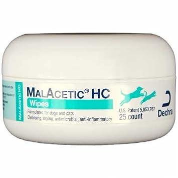 Dechra Malacetic HC toallitas (25 ct): Amazon.es: Productos para mascotas