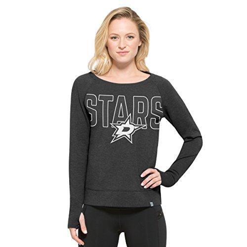 '47 NHL Dallas Stars Women's React Raglan Long Sleeve Tee, Large, Pavement -