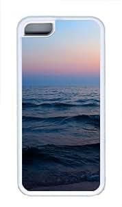 Beach nature TPU Case Cover for iPhone 5C White wangjiang maoyi