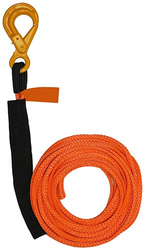 B/A Products 4-R3875L Winch Line, Synthetic, 3/8″ x 75′, Self Lock Hook, 3 Height, 30 Width, 12 Length