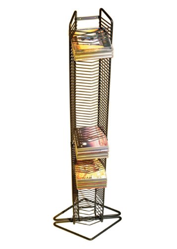 Atlantic 1248 Onyx 1209 35 CD Tower Matte Black Steel