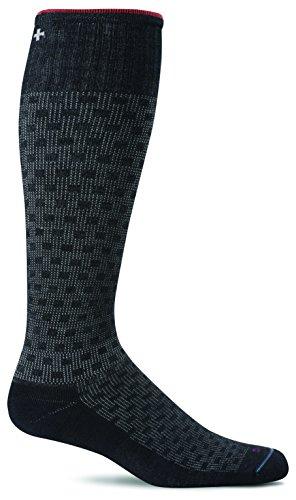 Sockwell Men's Shadow Box Socks, Black, (Box Stocking)
