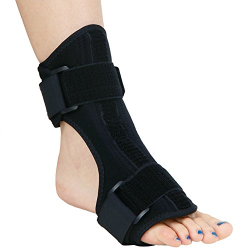 Beyoung Day and Night Ankle Splint, Plantar Fasciitis Sleep Support, Dorsal Foot Night and Day Night Splint, Adjustable Ankle Support Brace for Foot Drop, Ankle Sprain (Normal)