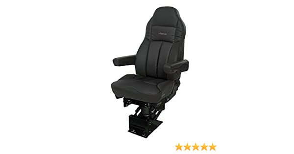 Legacy Silver Air-ride Seat | DuraLeather with D2 Technology - Black