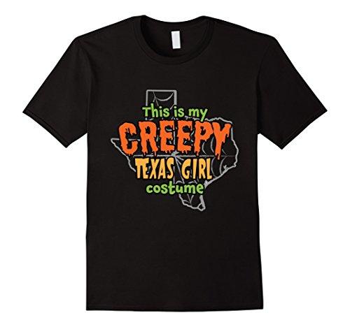Mens Creepy Texas Girl Funny Halloween Costume T-shirt 3XL (Big Texas Halloween Party)