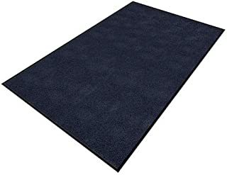 product image for Apache Mills Blue Yarn/PVC, Entrance Mat, 4 ft. Width, 6 ft. Length - 0104115014X6