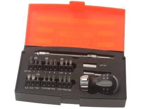 Bahco 808050S-22 22 Piece Stubby Ratchet Screwdriver Set (SET OF 1 EA)