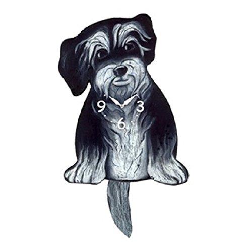 Hairy Dog Wagging Tail Pendulum Clock (Tail Wagging Dog Clock)