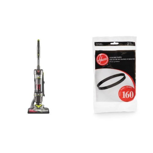 Hoover Agitator (Hoover UH72400 WindTunnel Air Steerable Bagless Upright Vacuum Cleaner - Corded and Hoover 40201160 Windtunnel Agitator Belts, Hoover 38528033 2-Pack Bundle)
