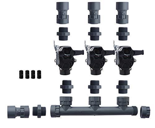 (Rain Bird 100-DV Dura Manifold Valve Kit -No Flow Control -Slip 100DV (3 Zone))
