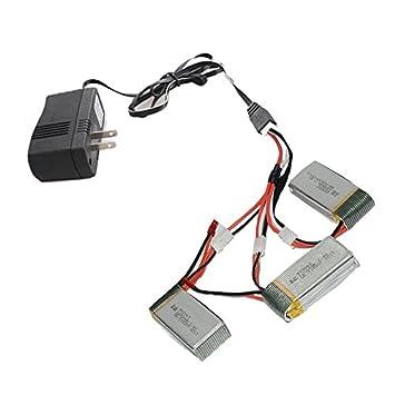 ILov 3 en 1 cable+AC Cargador+3 x 7.4V 1200mAh 30C Lipo Baterías ...