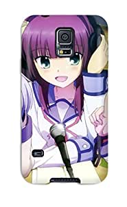 Premium QQjtzZM3270MRwVn Case With Scratch-resistant/ Angel Beats Case Cover For Galaxy S5