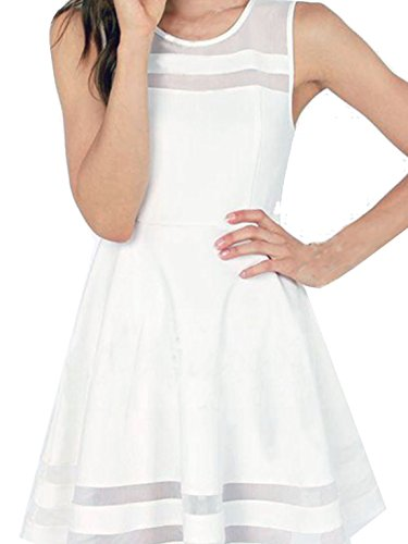 Womens Sleeveless Short Flare Dress