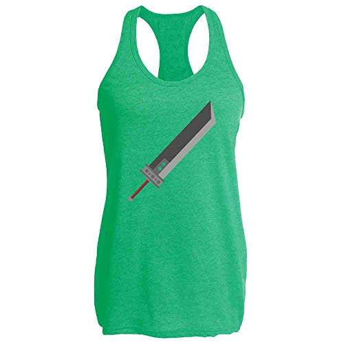 Pop Threads Fantasy Buster Sword Heather Kelly XL Womens Tank Top ()
