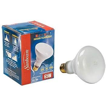 65-Watt BR30  130v   1500 hrs medium base Sunbeam Indoor Flood Light Bulbs