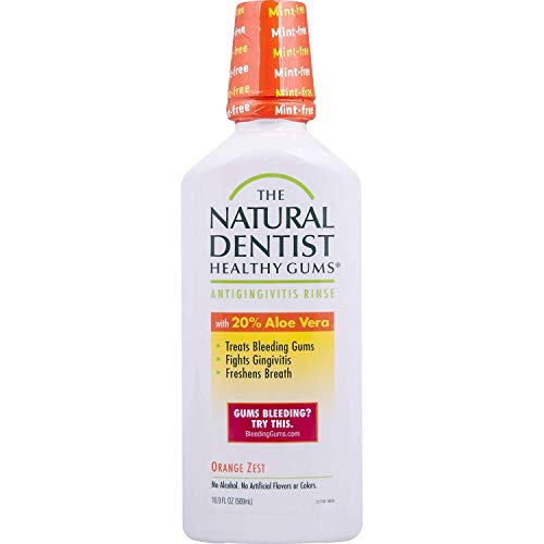The Natural Dentist Healthy Gums Mouth Wash, Orange Zest, 16.9 Ounce Bottle