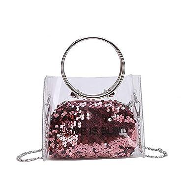 Amazon.com: Bolsas y bolsos holográficos transparentes para ...