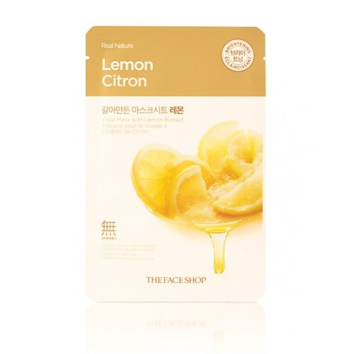 3-Pack-THE-FACE-SHOP-Real-Nature-Mask-Lemon
