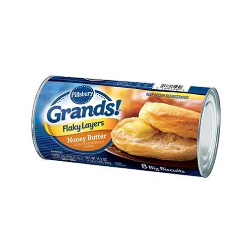 Pillsbury Grands Unbaked Biscuits, HoneyButter, Flaky Layers, 16.3 Ounce - 12 per case.