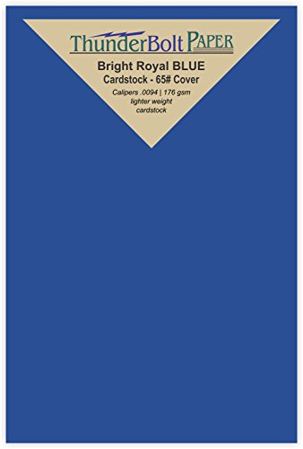 150 Bright Royal Blue 65# Cardstock Paper 4