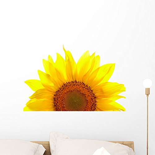 Wallmonkeys FOT-25449649-24 WM54559 Sunflower Isolated on White Background Peel and Stick Wall Decals (24 in W x 17 in H), Medium