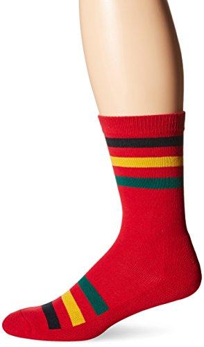 (Pendleton National Park Cotton Crew Socks, Rainier Stripe - Red, Large (Fits Men's Shoe Size 9-12/ Women's Shoe Size 10-13) )