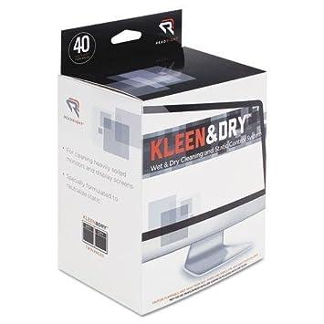 Read Right RR1305 Kleen & Dry - Toallitas limpiadoras de Pantalla húmedas, Gamuza, 5
