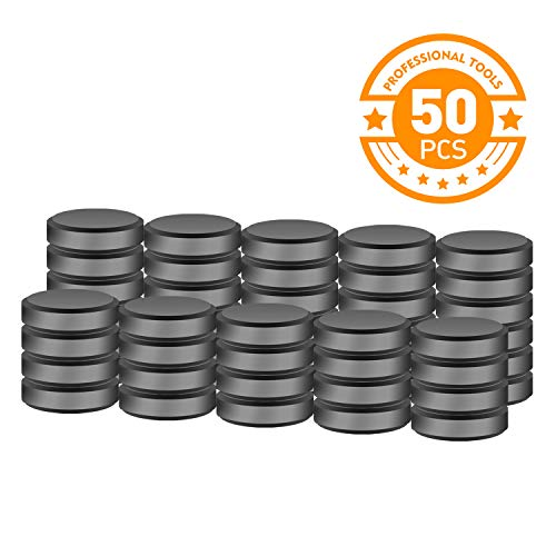 SEDY 50pcs Ceramic Magnets Craft Magnets - Size 18 mm (7.09 inch) Round Disc - Great for Home, Office, Craft, Hobby DIY -
