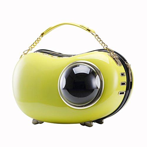 Upet Bubble Peapod Pet Carrier Yellow