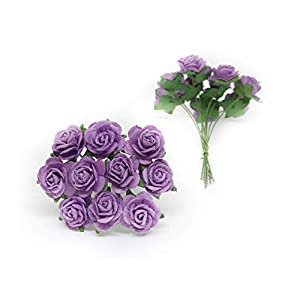 """1/2"""" Lilac Purple Mulberry Paper Flowers, Paper Rose, Lilac Flowers, Floral Crown Flowers, DIY Wedding, Wedding Decor, Wedding Table Flowers, Lilac Wedding, Artificial Flowers, 50 Pieces 2"""