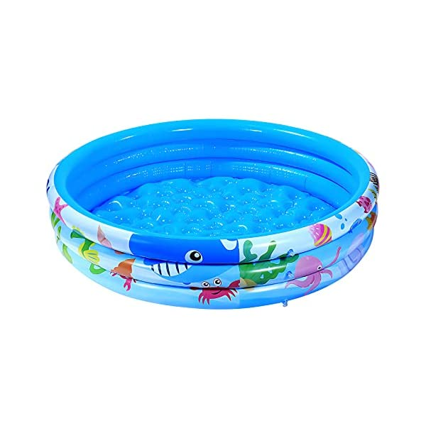 iBaseToy 3 Rings Round Inflatable Swimming Pool