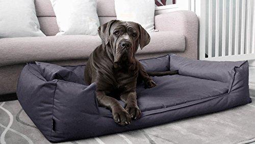 tierlando® G4-02 Orthopädisches Hundebett GOOFY VISCO fest gewebtes Polyester Hundesofa Hundekorb Gr. L 100cm Graphit Anthrazit Ortho